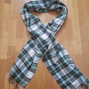 J. Crew Holiday plaid scarf NWOT